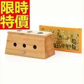 艾草針灸盒 艾灸器具-竹製三孔艾灸盒祛寒溫灸盒多功能65j3【時尚巴黎】