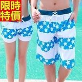 情侶款海灘褲(單件)-衝浪防水經典星星美式風格男女短褲66z36【時尚巴黎】