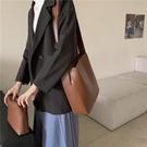 水桶包 休閒簡約包包女2021新款韓版時尚復古百搭單肩斜挎水桶包【快速出貨八折鉅惠】