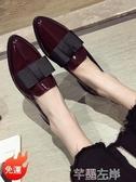 新品牛津鞋小皮鞋女復古春季英倫風韓版百搭學生平底黑色單鞋潮 芊墨左岸