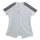 Adidas 愛迪達 W D2M 3S TEE  短袖上衣 DS8723 女 健身 透氣 運動 休閒 新款 流行