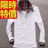 假兩件式襯衫-學院風個性別緻長袖男T恤3色59ac8【巴黎精品】