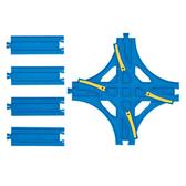 《TOMY》 R-14 交叉換軌轉轍器 ◎PLARAIL鐵路王國系列 ╭★ JOYBUS玩具百貨
