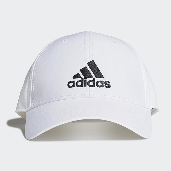 Adidas Baseball Cap 帽子 老帽 休閒 遮陽 涼感 抗紫外線 刺繡 白【運動世界】FK0899