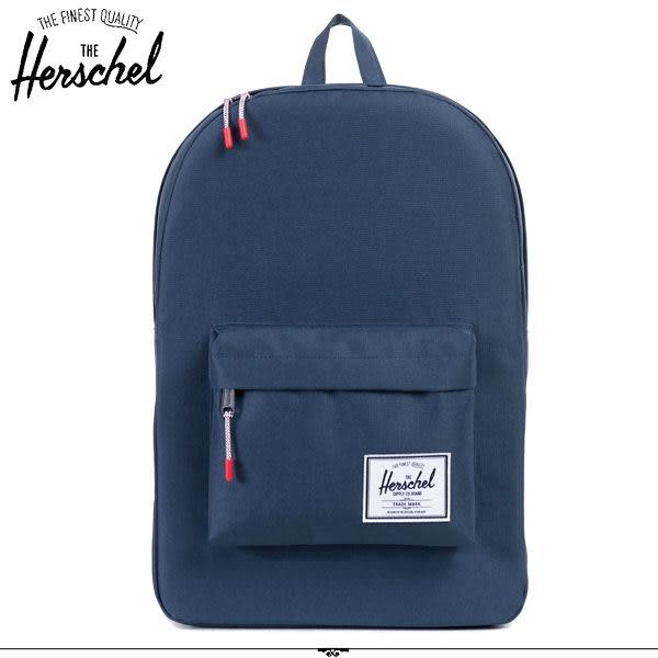 Herschel 後背包 深藍色 經典後背包 Classic-007 MyBag得意時袋