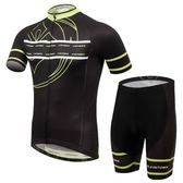 自行車衣-(短袖套裝)-吸濕排汗透氣速乾男單車服套裝2色73er52【時尚巴黎】