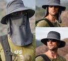 漁夫帽子男遮陽帽 現貨 夏季戶外速幹防曬帽 釣魚透氣太陽帽女遮臉帽