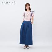 a la sha+a 牛仔吊帶打摺裙