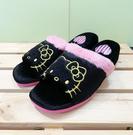 【震撼精品百貨】Hello Kitty 凱蒂貓~三麗鷗 Hello kitty 絨毛室內拖鞋~增高黑色#00500
