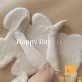買2送1 小腿襪子立體麻花鏤空jk透氣及膝襪女素色日系韓國春夏【慢客生活】