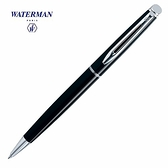 Waterman雋雅黑桿白夾原子筆