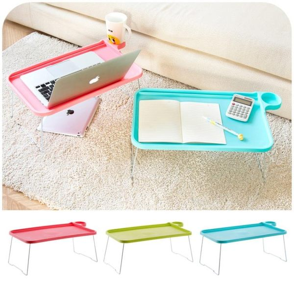 [超豐國際]折疊桌電腦桌宿舍床上用懶人餐桌 學生簡易筆記本桌小桌