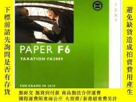 二手書博民逛書店Acca罕見- F6 Tax (fa2009)Y256260 Bpp Learning Media Bpp L