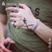 手鍊鈦鋼男士扁蛇骨手鍊個性簡約手環女生手飾禮物 父親節禮物
