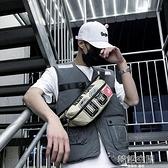 潮流腰包男2021新款斜背包多功能休閒胸包嘻哈個性學生單肩小背包