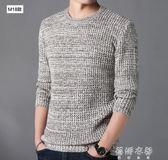 毛衣 毛衣男士韓版修身潮打底針織衫男裝青年圓領長袖線衣t恤外套 蓓娜衣都
