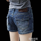 2021夏季新款牛仔短褲女中腰彈力顯瘦百搭學生韓版卷邊寬鬆熱褲潮