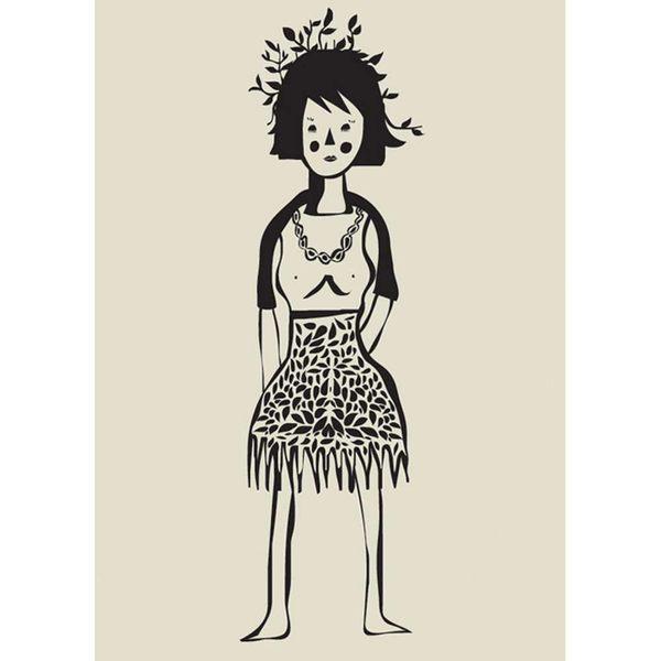 【摩達客】西班牙知名插畫家Judy Kaufmann藝術創作海報掛畫裝飾畫-女人們 (附Judy本人簽名)(含木框)