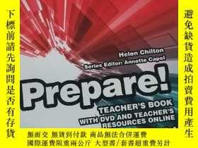 二手書博民逛書店Prepare!罕見Level 4 TEACHER'S BOOK【內附光盤】Y216888 Annette C