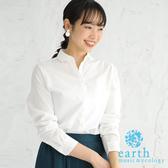 ❖ Autumn ❖ 格紋/素面定番款防皺長袖襯衫 - earth music&ecology