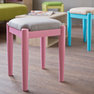 椅子 椅凳【收納屋】和風菓子實木小椅凳-粉嫩紅 &DIY組合傢俱