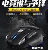 狼蛛弒魂鼠標 有線usb家用電腦筆記本網吧電競游戲機械鼠標LOL/CF 創意空間
