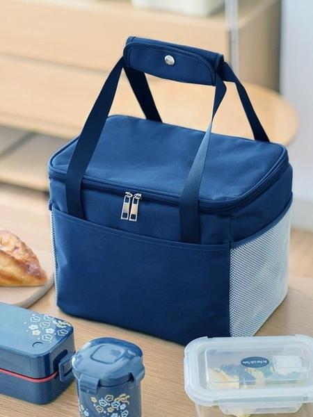 保溫袋便當袋手提包鋁箔加厚大號大容量裝帶飯袋飯包飯盒袋子手提 夢幻小鎮