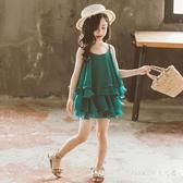 2020新款兒童女童夏裝套裝夏天夏季女孩超洋氣小孩兩件套 KP1346【Pink 中大尺碼】