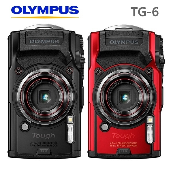 OLYMPUS Tough TG-6 TG6 15米潛水 防水相機 (平輸保固一年) 送64G+副電+座充+皮革相機包