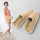 帆布鞋 透氣漁夫鞋女平底單鞋一腳蹬懶人鞋學生鞋老北京女鞋 - 古梵希