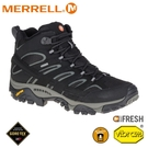 【MERRELL 美國 男 MOAB 2 MID GORE-TEX 登山鞋《黑色》】ML06063/防水鞋/健行鞋/登山
