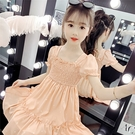 女童洋裝2020夏季新款網紅兒童公主裙中大童洋氣雪紡仙女裙子 幸福第一站