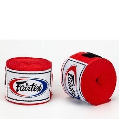 『VENUM旗艦館』Fairtex 泰拳 拳擊手綁帶 BOXING Hand Wraps 手綁帶 5米 微彈性 - 紅色