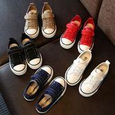 兒童帆布鞋秋季新款休閒板鞋女童學生鞋男童透氣布鞋