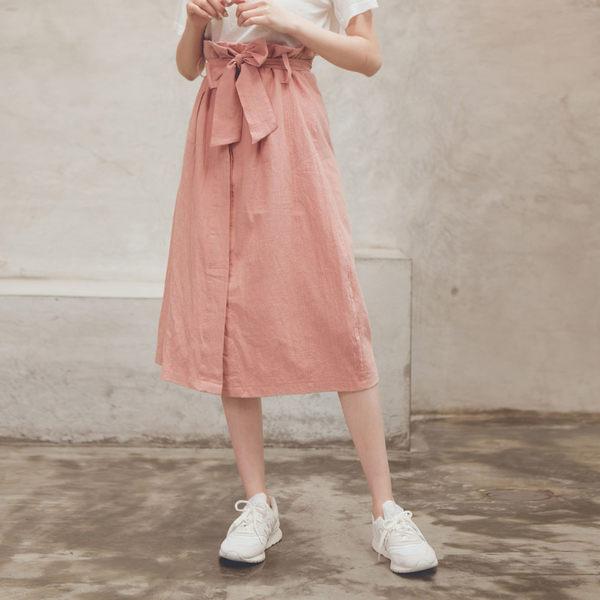 MUMU【P10168】花苞高腰綁帶前排暗釦長裙。四色