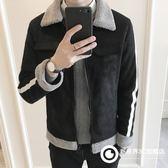 2018冬季新款外套男加絨加厚修身羊羔毛棉衣棉服上衣男裝加厚夾克