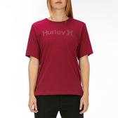 Hurley  W OAO PT OVERSIZED CREW SS BLACK/(CRIMSON TINT)  T恤-(女)