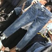 牛仔寬褲大碼女裝胖女人春裝洋氣胯寬大腿粗的女生褲子減齡寬鬆顯瘦牛仔褲促銷好物