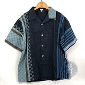 BRAND楓月 LOEWE 深藍色 多色拼接 LOGO繡花 100%純棉 襯衫 男版 輕薄 寬版 #M