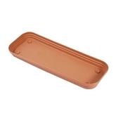 彩陶花槽底盤-小 紅綠混色