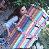 可折疊有蓋儲物箱玩具收納筐內衣服收納盒整理儲蓄箱子收納箱布藝igo 青山市集