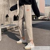 運動褲女2020新款純棉韓版春夏季寬鬆直筒工裝褲子女高腰顯瘦休閒  夏季新品