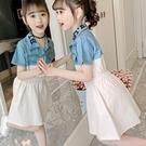 女童洋裝 網紅女童連身裙夏裝2020新款洋氣夏季童裝小女孩拼接牛仔時髦裙子 零度3C