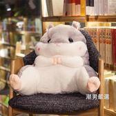靠枕可愛龍貓倉鼠學生腰靠椅子護腰枕靠枕靠背靠墊汽車辦公室抱枕創意xw