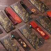 618好康鉅惠 古風復古木質書籤流蘇禮物檀木古典禮品