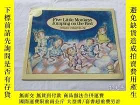 二手書博民逛書店Five罕見Little Monkeys Jumping on the Bed (A Five Little Mo