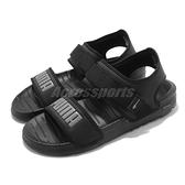 Puma 涼鞋 Softride Sandal 黑 灰 魔鬼氈 涼拖鞋 男鞋 女鞋【ACS】 37510401