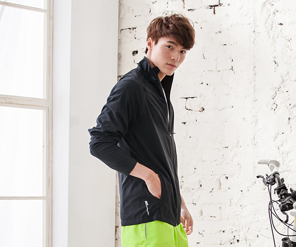 【MJ3】防風超潑水立領運動外套-男(三色可選) 防曬 防風 排汗透氣 連帽 慢跑 路跑 騎車