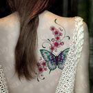 花臂紋身貼紙  C001 花蝴蝶  日韓系水轉印紋身貼紙 想購了超級小物