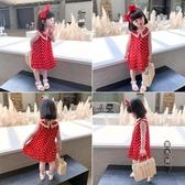 女童連身裙洋裝2020夏季新款兒童裝寶寶洋氣韓版娃娃領無袖雪紡公主裙 OO8636『黑色妹妹』